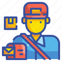 avatar, job, mail, mailman, postman, profression, user icon