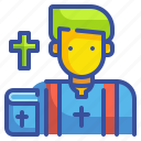 avatar, culture, job, priest, profression, religion, user icon