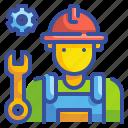 avatar, fix, mechanic, profression, repair, repairman, technician icon
