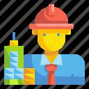 architect, avatar, building, engineer, job, man, profression icon
