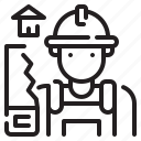 avatar, carpenter, house, job, profression, user, work icon