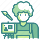 art, artist, avatar, job, paint, profression, user icon