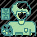 athlete, avatar, football, man, player, profression, user icon