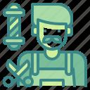 avatar, barber, hair, jop, profression, shop, user icon
