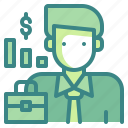 avatar, businessman, employee, manager, officer, profression icon