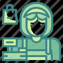 avatar, cashier, commerce, job, profression, shop, user icon