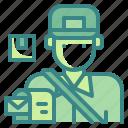 avatar, job, mail, mailman, postman, profression, user icon