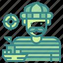 avatar, boat, fisherman, man, profression, sailor, ship icon