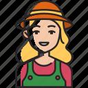 gardener, gardening, farmer, plant, garden, avatar, woman