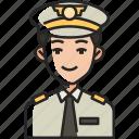 pilot, man, avatar, captain, flight, plane, airplane