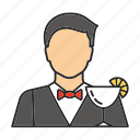 barman, bartender, cocktail, job, man, profession, waiter icon