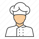 cafe, chef, cook, food, kitchen, man, restaurant icon