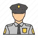 cop, man, officer, police, police officer, policeman, profession icon