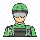 army, man, military, military man, officer, policeman, soldier icon