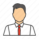 businessman, man, manager, office, salesman, seller, worker icon