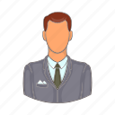 adult, business, businessman, cartoon, confident, professional icon