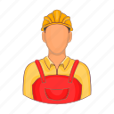 builder, cartoon, construction, man, person, work, worker icon