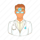 cartoon, doctor, health, hospital, medical, medicine, professional icon