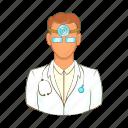 cartoon, doctor, health, hospital, medical, medicine, professional icon