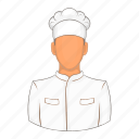 cartoon, chef, cook, kitchen, male, professional, restaurant icon