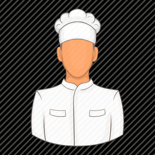 cartoon, chef, cook, kitchen, male, professional, restaurant icon