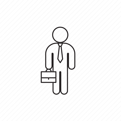 briefcase, office employee, person, professions icon