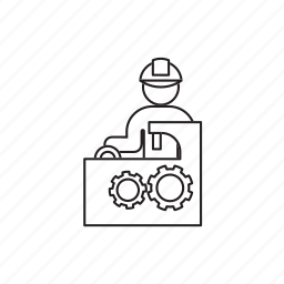 machine, machine operator, person, professions, tool icon