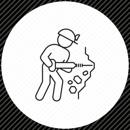 miner, person, professions icon