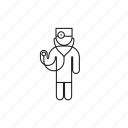 doctor, person, professions, stethoscope icon