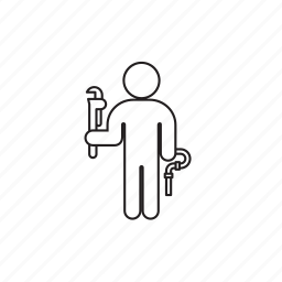 person, pipe, plumber, professions icon