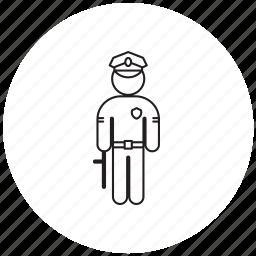 person, policeman, professions icon