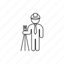 engineer, helmet, person, professions icon