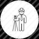 engineer, helmet, person, professions icon