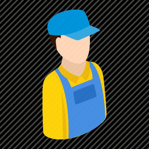 engineer, isometric, person, plumber, repairman, tool, worker icon