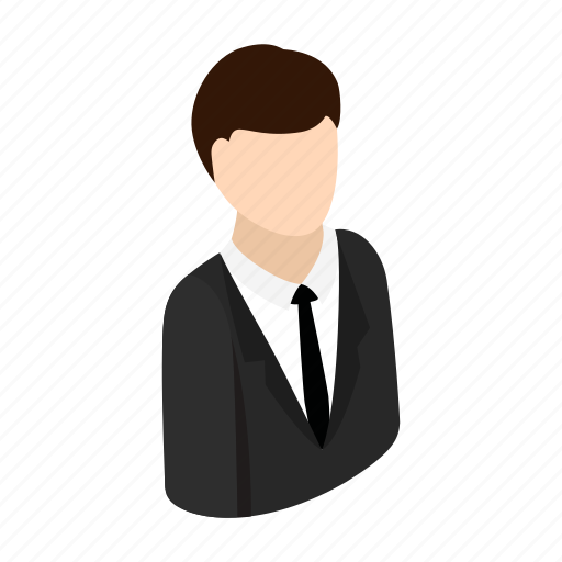 avatar, businessman, human, isometric, manager, suit, tie icon