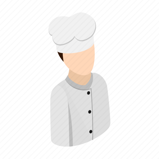 character, chef, cook, cooking, cuisine, hat, isometric icon