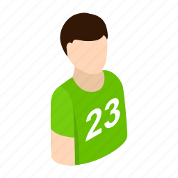 athlete, avatar, isometric, male, man, player, sportsman icon