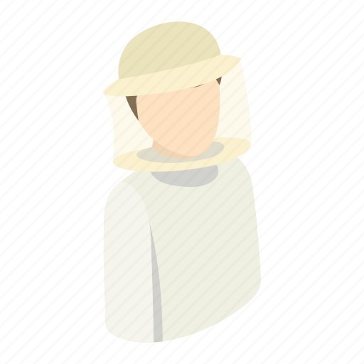 beekeeper, beemaster, character, hat, honey, isometric, protection icon
