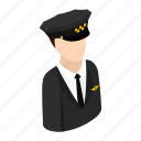 taxi, isometric, cap, transportation, work, driver, hat