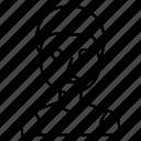 avatar, face, man icon