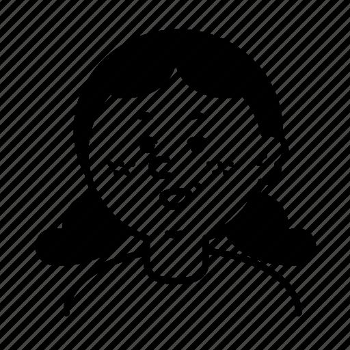 avatar, emoji, face, female, person, profile, user icon
