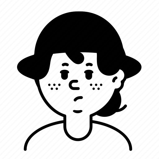 Avatar, emoji, face, female, person, profile, user icon - Download on Iconfinder