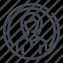 woman, avatar, circle, profile, user, account