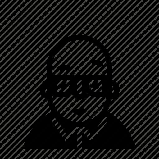 avatar, bald, profile, user icon