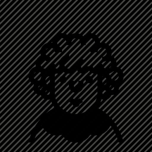 avatar, curly, profile, user icon