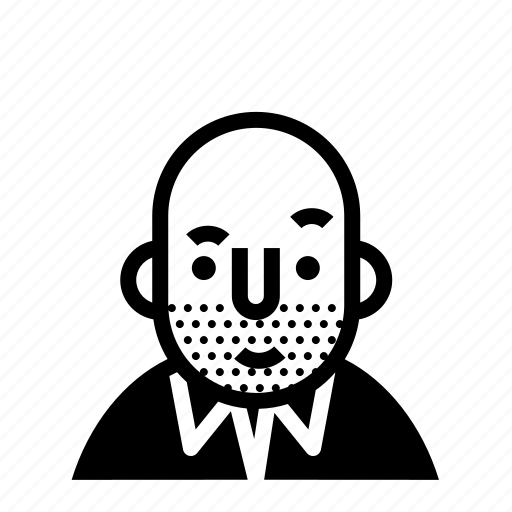 avatar, bald, profile, user icon