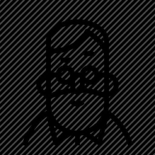 avatar, glasses, profile, user icon
