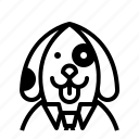 avatar, dog, profile, user icon