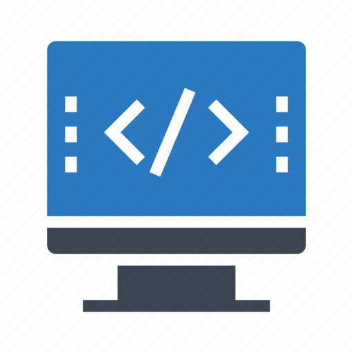 coding, display, lcd, programming, scripting icon