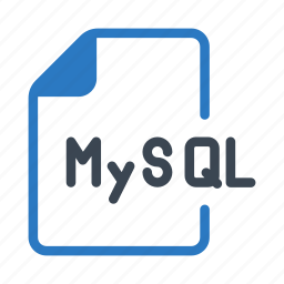 coding, document, files, mysql, script icon